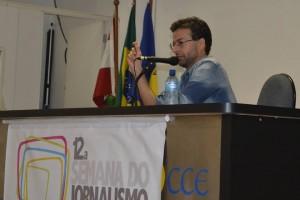 Klesler Cavalcante na 12a   Semana do Jornalismo. Foto: Willian Rotta / Comunica! Empresa Jr. de Jornalismo