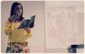 Daniela Arbex na 12ª Semana do Jornalismo. Foto: Willian Rotta – Comunica! Empresa Jr. de Jornalismo